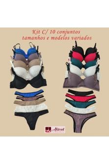 Atacado Kit 1º compra c/10 conjuntos e modelos variados